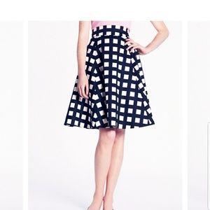 Kate Spade Checkered A Line Skirt Size 4